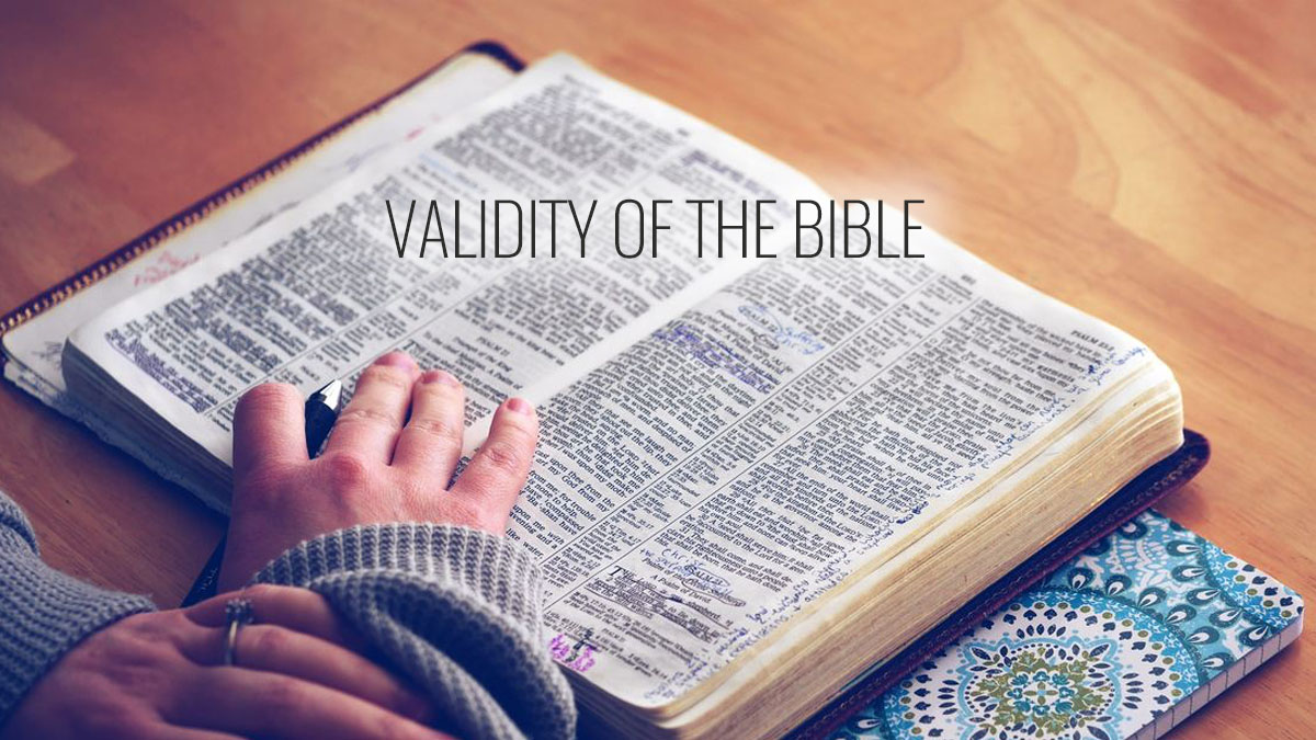 Validity of the Bible